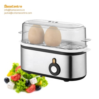 Stainless steel housing Egg boiler for 3 pcs of eggs with ready signal for option
