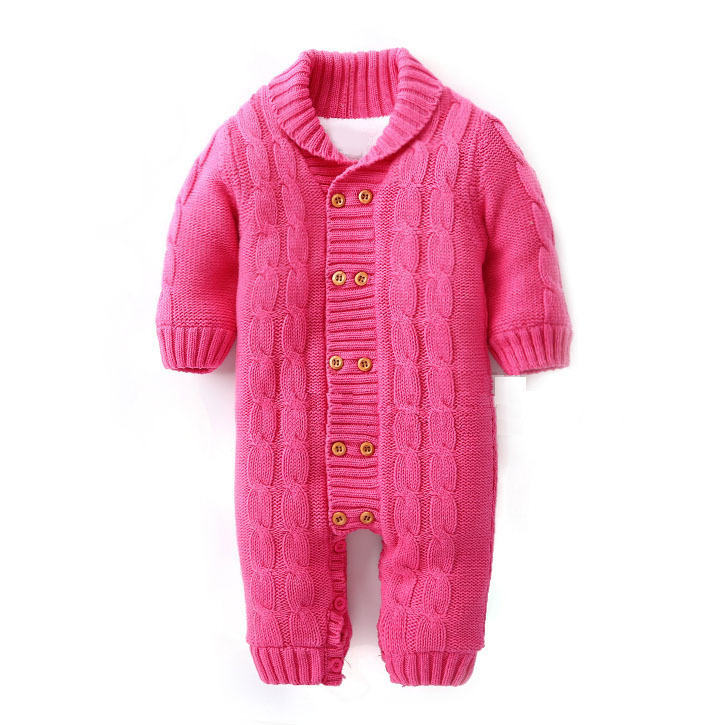 890eccf0a63c Buy 100% Cotton 2015 Sweater Jumpsuit Baby Rompers Autumn Winter ...