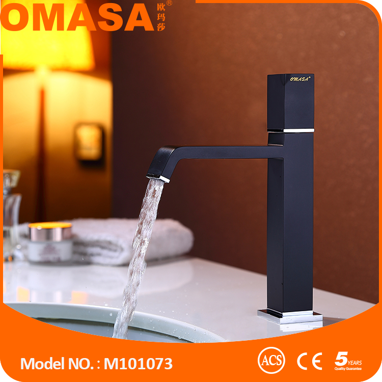 Single lever matte black basin faucet mixer tap for bathroom