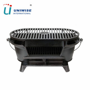 Outdoor Charcoal Barbeque Hibachi Cast Iron BBQ Grills