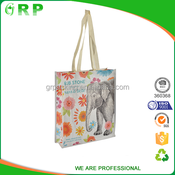 BSCI market using foldable handled pp woven bags for rice