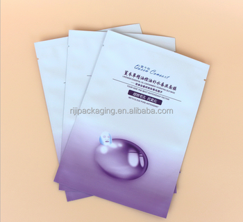 Custom printed aluminum laminated foil face mask packaging pouch/facemask packaging bag