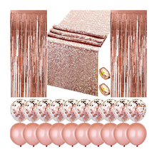 Rose Gold Party Accessoire Levert Set Christmas Party Ballonnen Decoraties