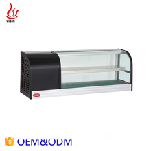 Heavy Hotel Kitchen Equipment Double Deck Display sushi refrigerator showcase