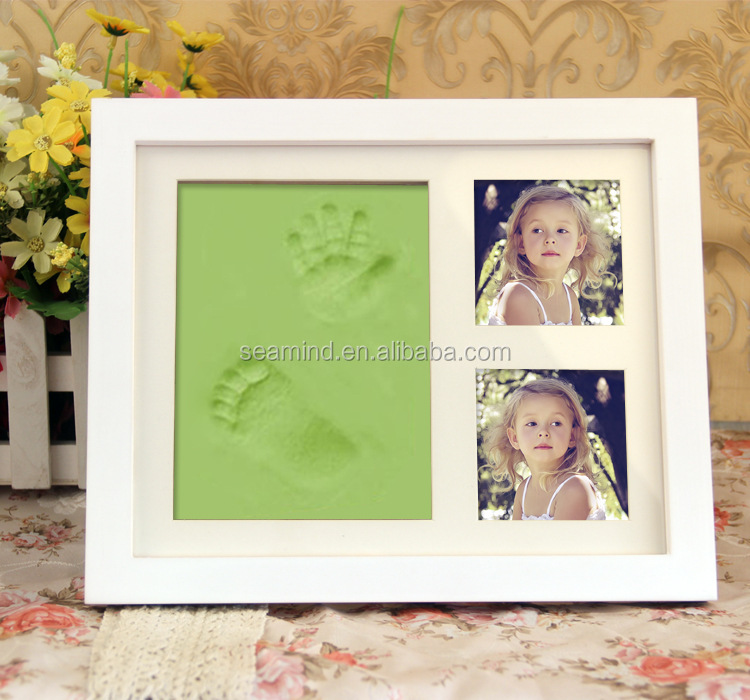 Baby Photo Frame Hand And Foot print Frame With Photo Together