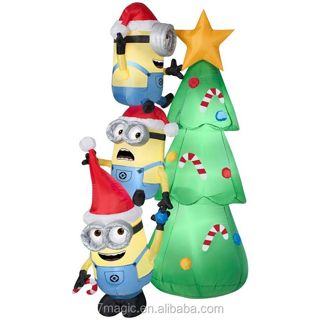 Shop Minions Decorating Tree Christmas Airblown Inflatable