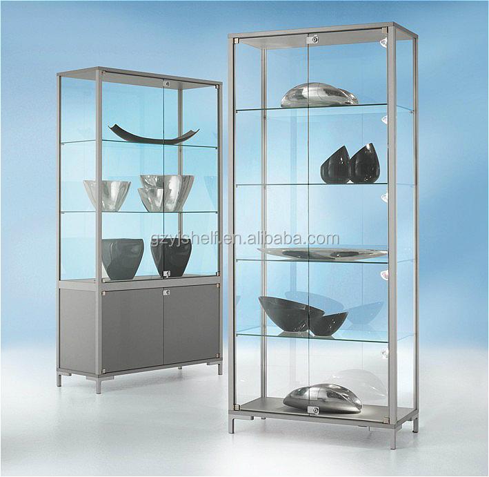 Glazen Wand Vitrinekast.Winkelen Display Kasten Met Glazen Deuren Winkelinrichting Vitrine