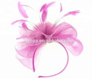 GENYA роскошные невесты кристалл головной убор ручной работы с голубой перо головные уборы