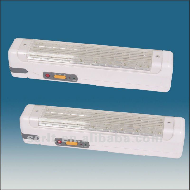 SEM008/20 ABS PC diffuser handel or wall mounted 30 LEDs rechargeable emergency lighting fixture
