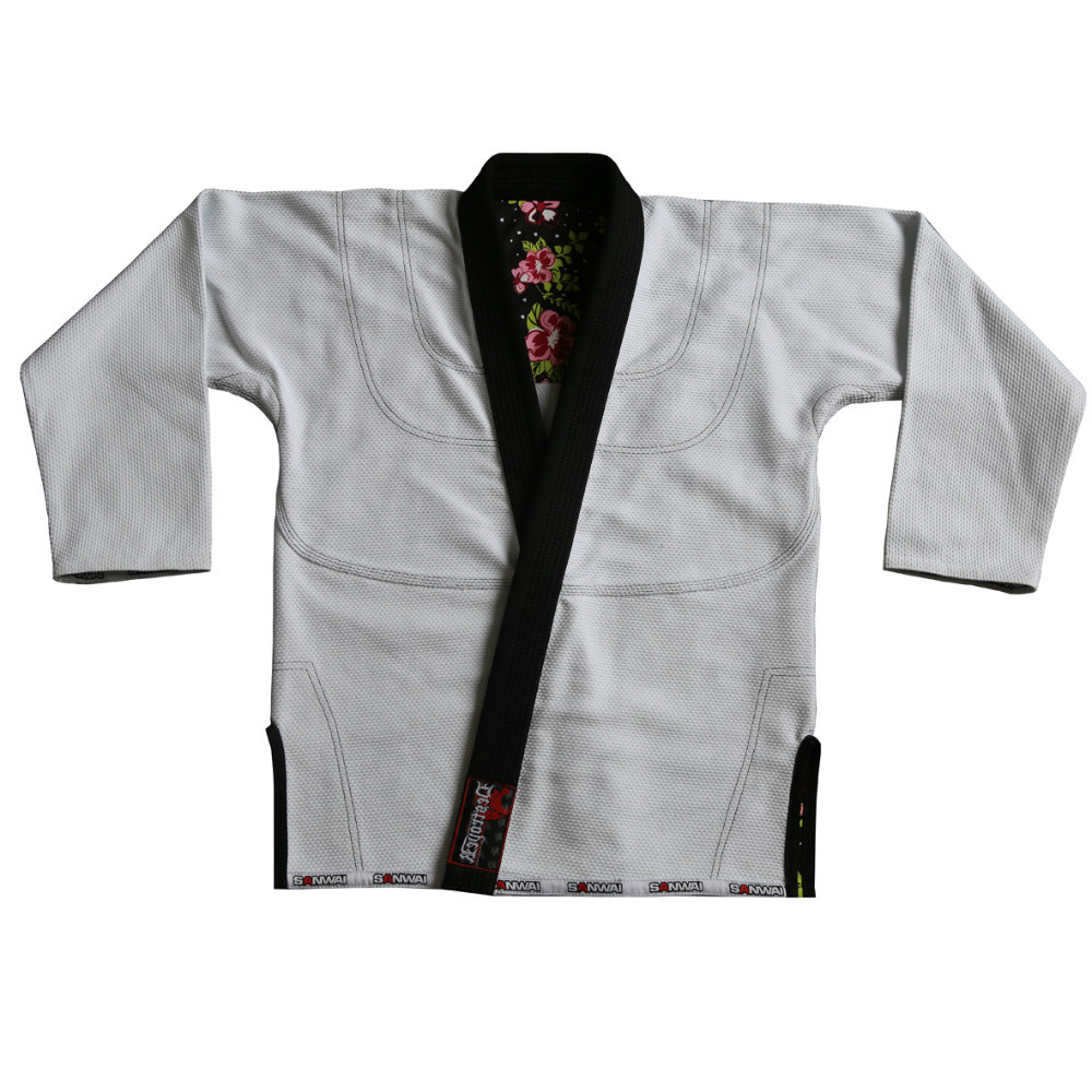 Custom Embroidery Patches Bjj Gi 100% Cotton Pearl Weave Fabric ...