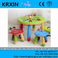 PP plastic round kids table for children