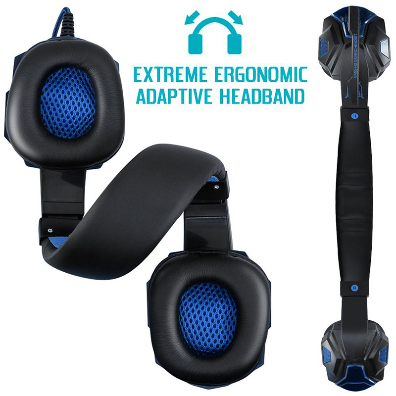 Best Computer Wired Gaming Headset With Microphone Mic LED light for PC