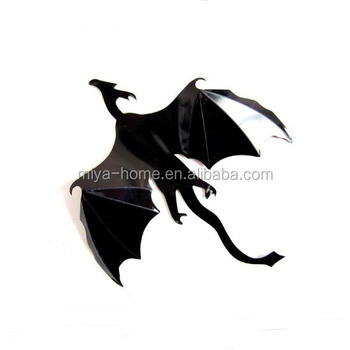 new design halloween 3d dragon wall sticker / game of thrones