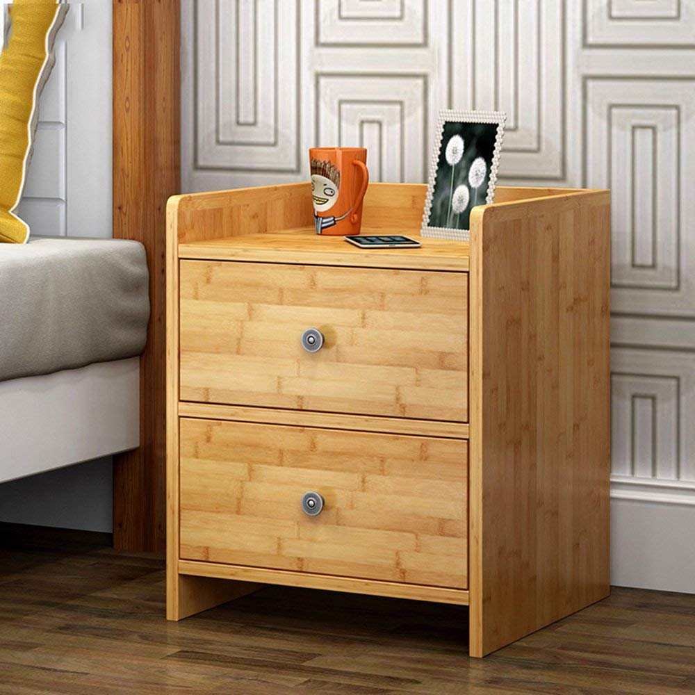 AiHerb.LT nightstand Bamboo Storage Cabinets Small Lockers Bedside Cabinets Bedroom Cabinets File Cabinet Bedside Cabinets (Color : C)