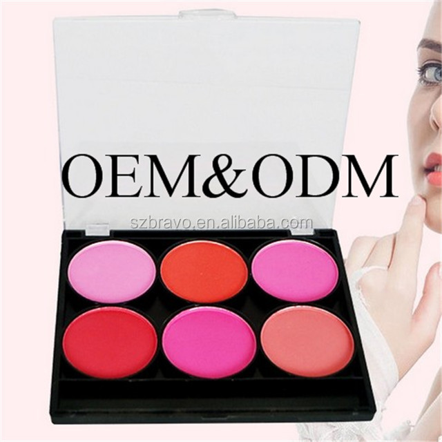 Private Label Factory Makeup 6 Colors Powders And Blushers