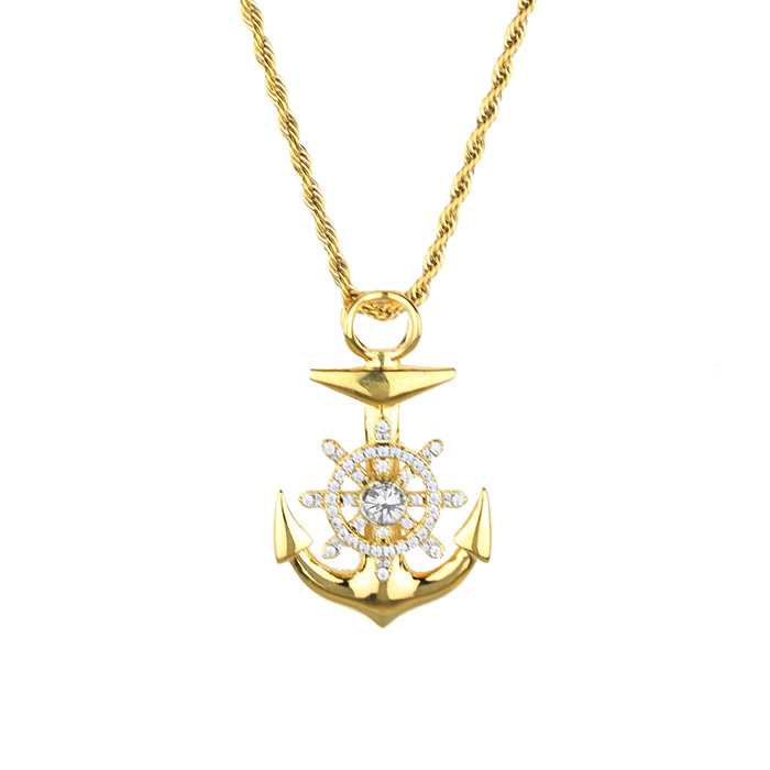 Gold anchor pendant necklace new design stainless steel anchor gold anchor pendant necklace new design stainless steel anchor pendant mjhp200 view anchor pendant miss jewelry product details from guangzhou miss aloadofball Images