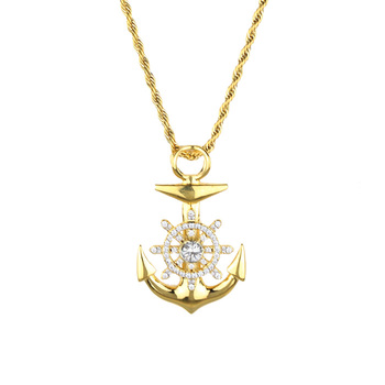 Gold anchor pendant necklace new design stainless steel anchor gold anchor pendant necklace new design stainless steel anchor pendant mjhp200 aloadofball Gallery