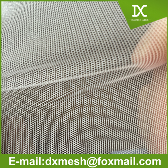 small hole square mesh fabric for bags with elastic
