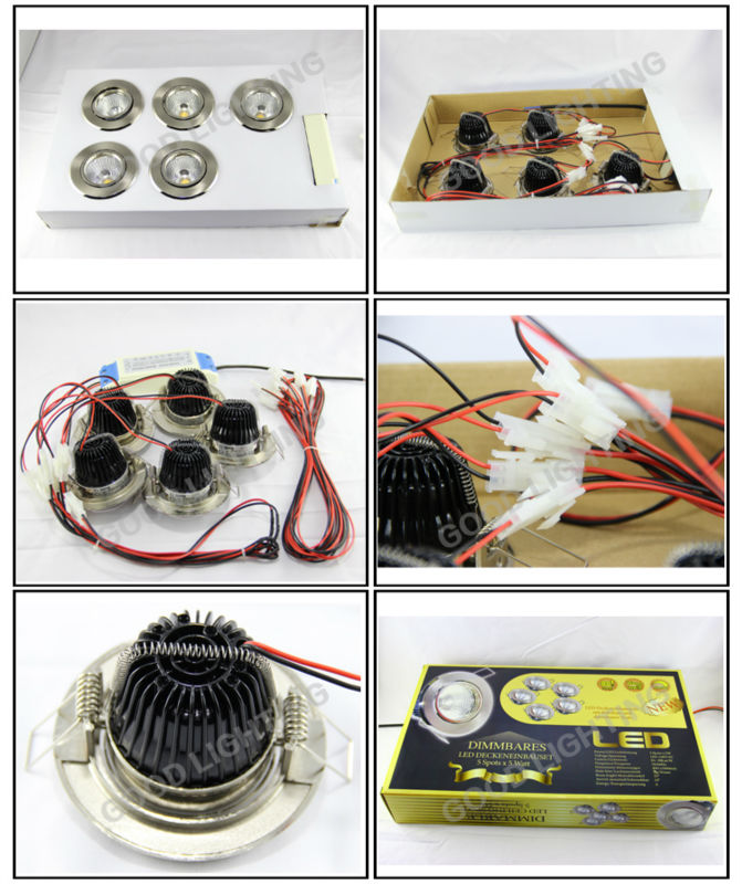 Good Lighting Spotlights Ce Rohs 5w Led Cob Chip Dimmable Set Home ...