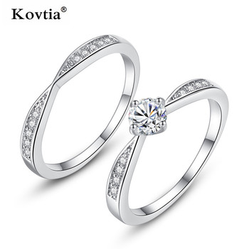 fd6f5f0a15f089 Fashion women white gold wedding ring white stone zircon couple engagement  ring diamond jewelry