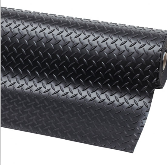 Fapre Fire resistant driveway diamond tread rubber matting