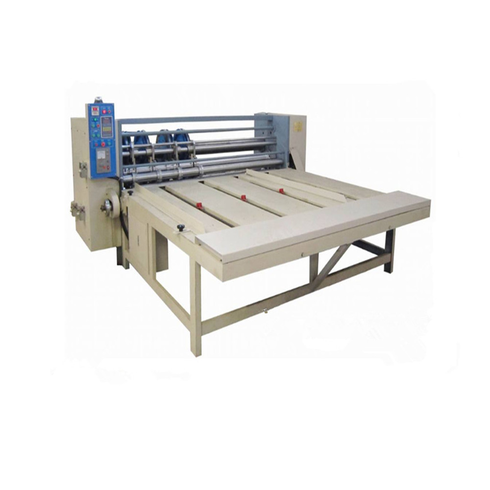 Corrugated paperboard separating paper,rolling the line,slicing the corner &slotting machine from made in dongguang