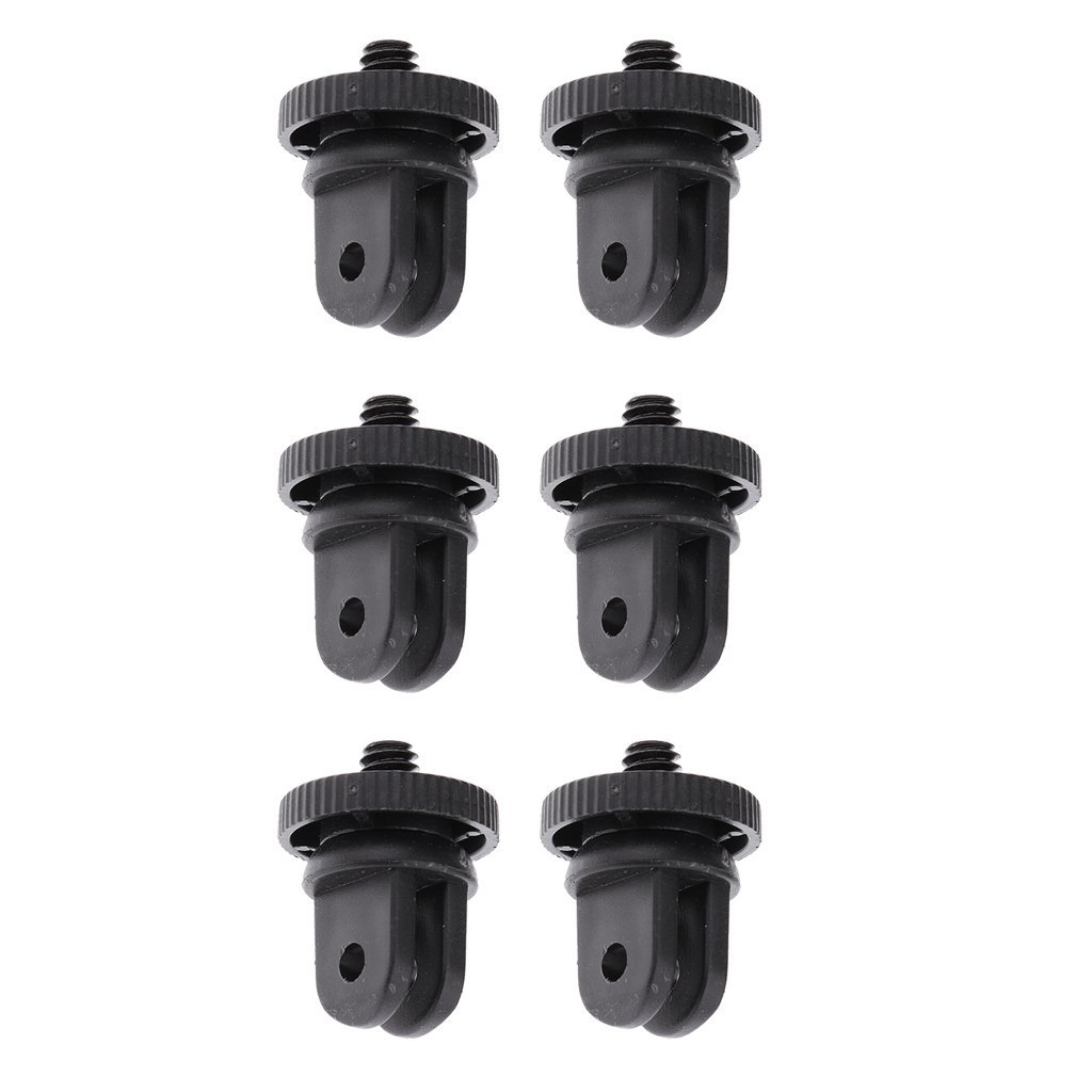 Homyl 6Pcs Conversion Adapter Mounts (1/4-Inch 20) Adapter for GoPro Action Camera