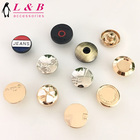 New designs metal material Gold color demin shank Zamak jeans button