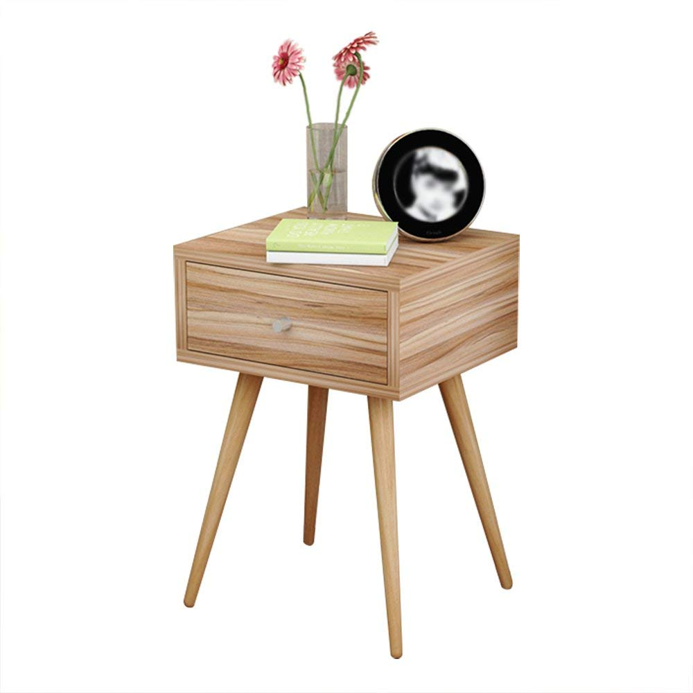 PM-Nightstands Bedside Cabinet Bedroom Solid Wood White Bedside Table Assembly Storage Storage Cabinet (Color : C, Size : 404058)