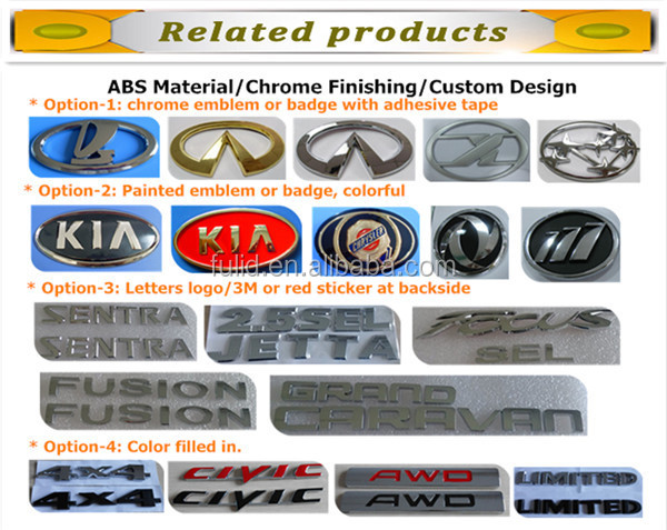 custom abs chrome car letter car emblem royalsaloon