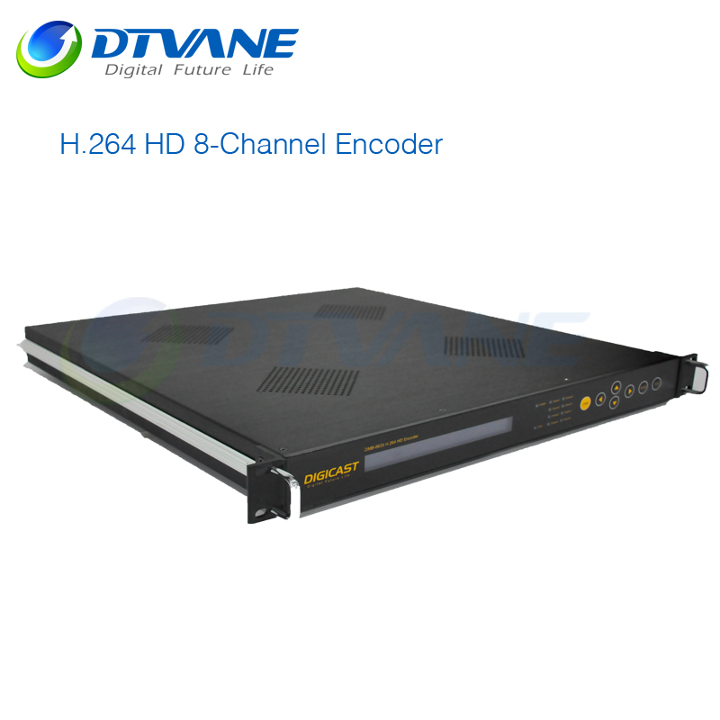 Providing ASI and IP (UDP/IP) output video server 3G 8 in 1 encoder hdmi encoder h.264