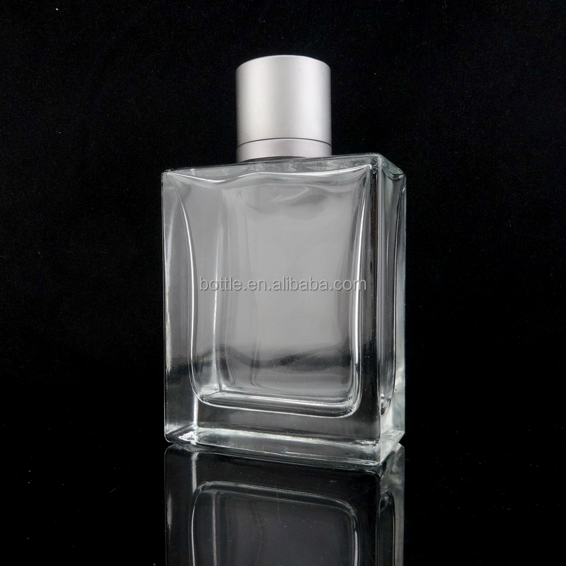 100 ml high quality rectangle flat glass mens cologne bottles wholesale