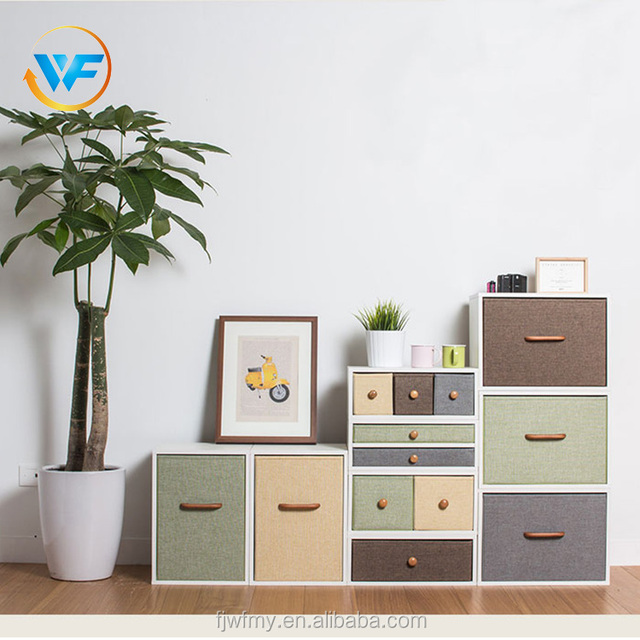 Custom Multilayer Large Non Woven Simple Storage Basket Fabric Storage Box for Shelf with Wooden Handle & China Wooden Box With Fabric Wholesale ?? - Alibaba