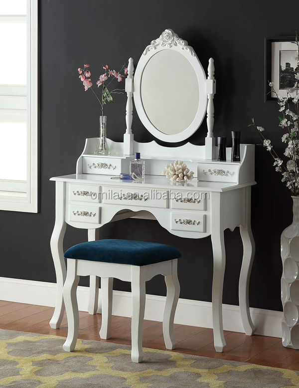 usine directement vente 2014 maquillage commode coiffeuse avec chaise antique commodes avec. Black Bedroom Furniture Sets. Home Design Ideas