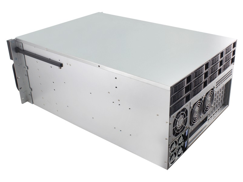 6u hot swap case with 48 trays