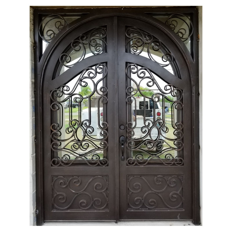 Direct supply elegant main entrance simple wrought iron <strong>door</strong>