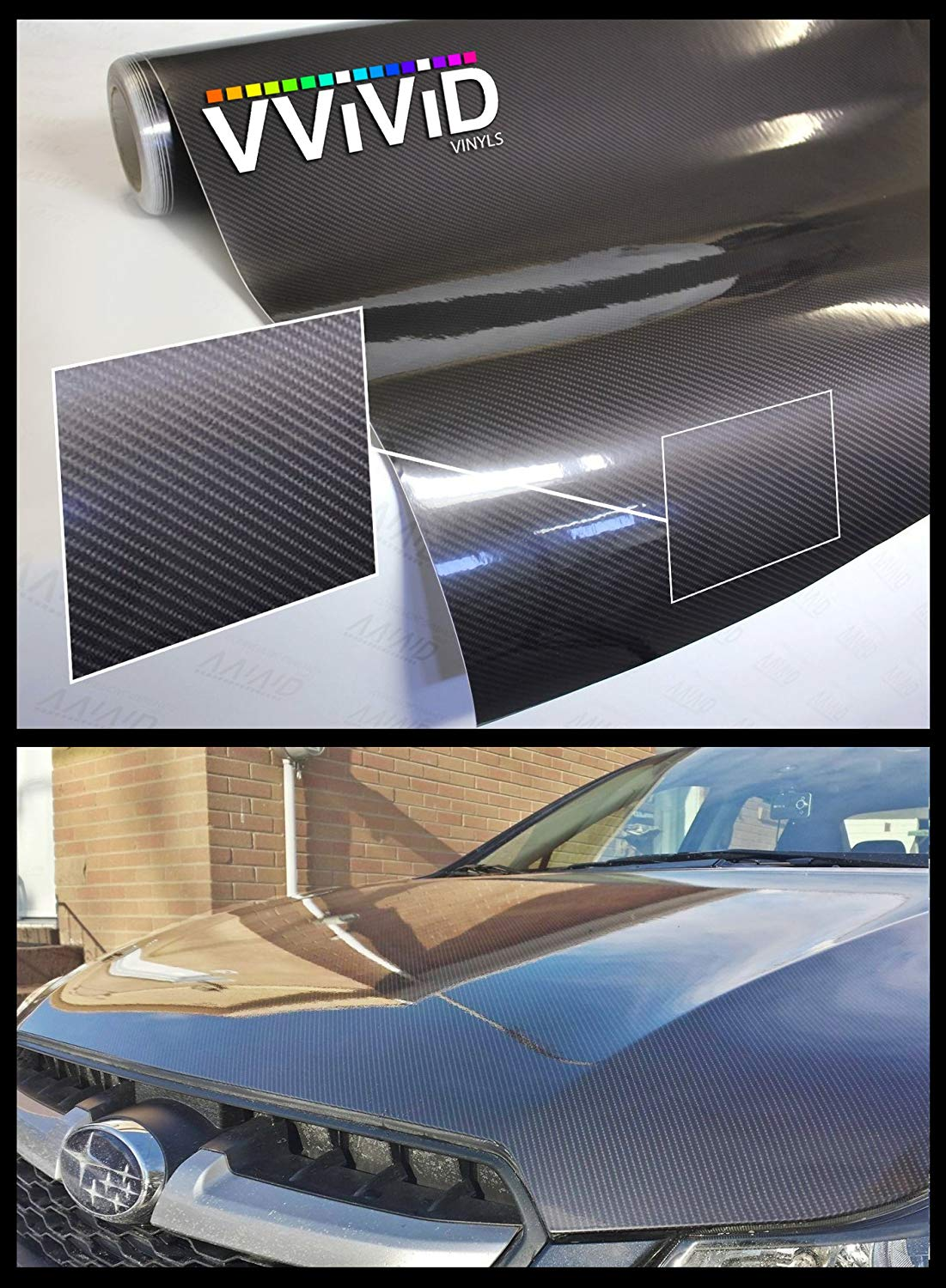 Black Gloss Vinyl Decal Roll 5ft x 25ft New Car Wrap with Air Release Tech
