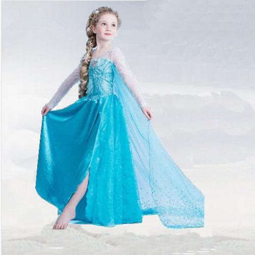2016 Autumn Elsa Dress Baby Long Sleeve Custom Cinderella
