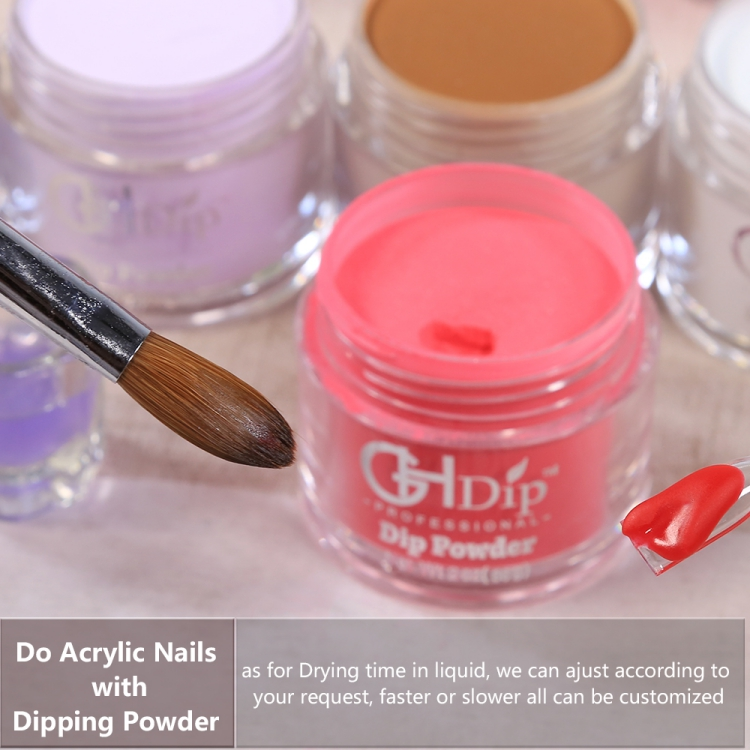 Pink Color Dipping Powder Work Well With Acrylic Liquid Ema To Do Acrylic  Nails - Buy Color Dipping Powder,Acrylic Liquid,Acrylic Nails Product on