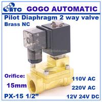 15mm water solenoid valve 1/2 inch pilot diaphragm type