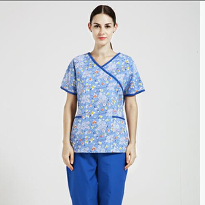 Short Sleeves Unisex Clinical Hospital Medical uniforms Nurse Suit