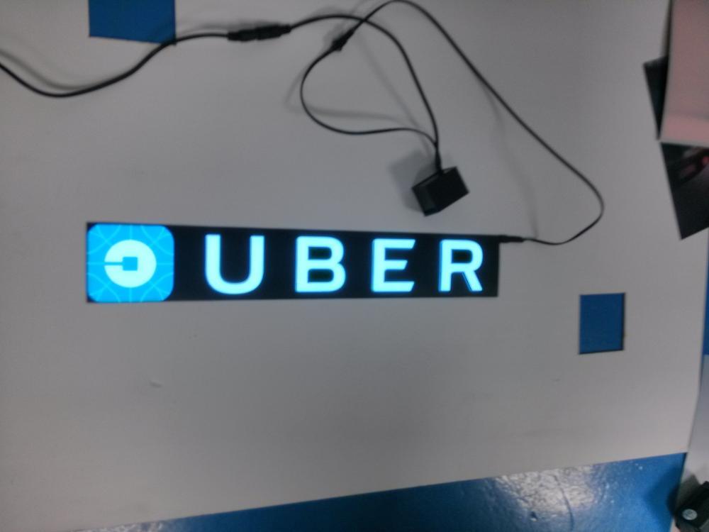 light up led el car sticker uber lyft backlight panel for car window ...