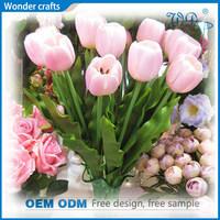 good quality personized artificial silk cloth pink 11 head Single stem fake tulip calla lilies bouquet flower Arrangement making