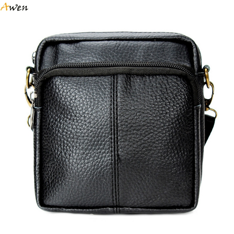 9730d0cfcd5 Buy Awen - Fashion Multifunction Mini Size 100% Genuine Leather Mens  Crossbody Bag