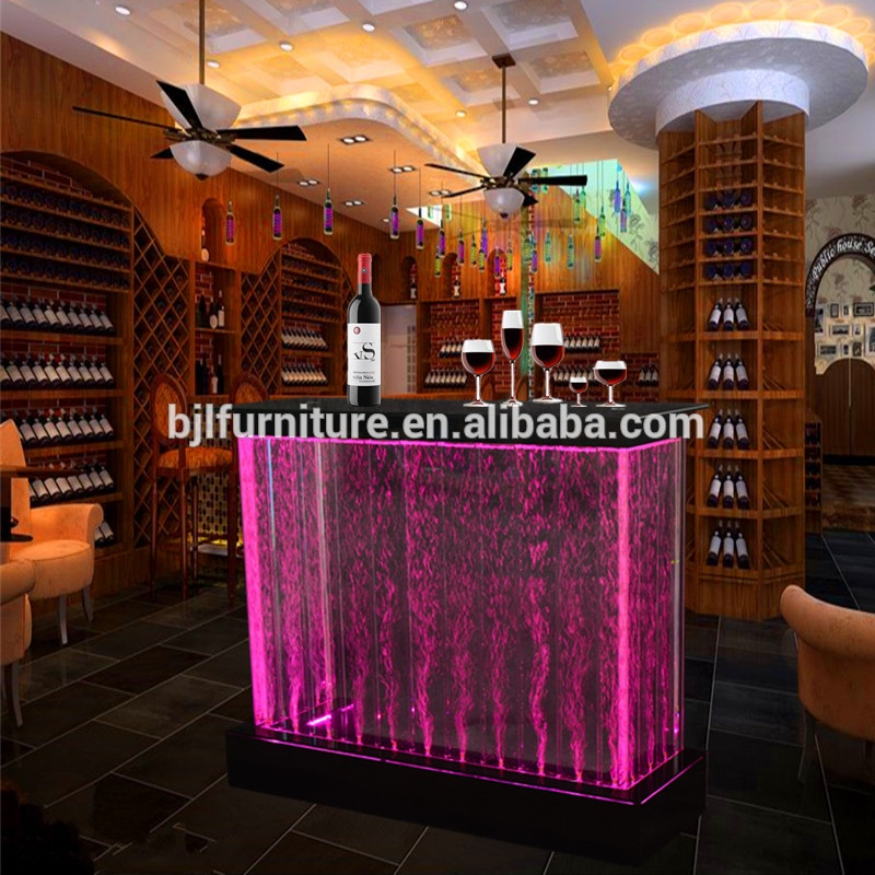 Cool Bar Furniture Led Light Up Water Bubble Table Counter Product On Alibaba