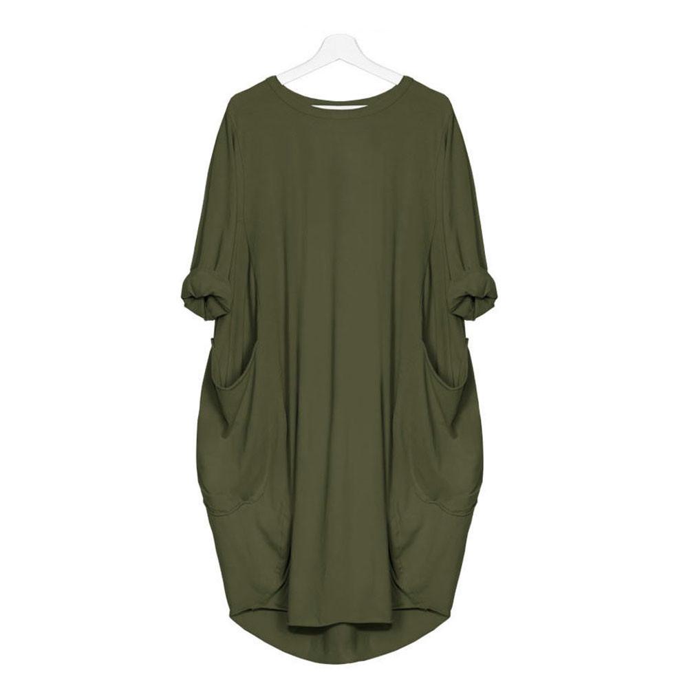 2019 neue Design OEM Großhandel Angepasst Übergroßen Hemd Kleid Frauen