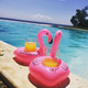 Inflatable water park inflatable pool toys pink flamingo cup holder