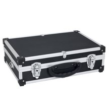 Slimline Compartmentalised Black Storage Tool Case Carry Case