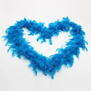 New arrival plumage crafts dyed teal turkey feather boas for festival costume
