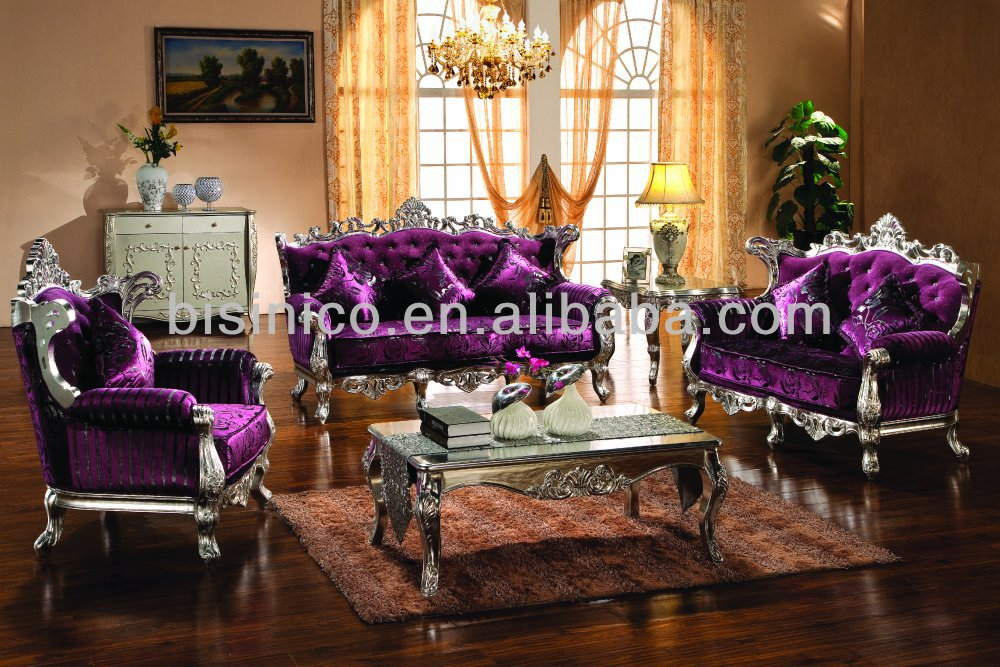 european style luxury antique living room furniture classic silver leaf sofa set. Black Bedroom Furniture Sets. Home Design Ideas